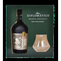 Coffret Rhum DIPLOMATICO Reserva Exclusiva 12 ans 2 verres
