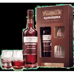 Rhum Vieux Karukera Coffret + 2 verres