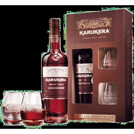 Rhum Vieux Karukera Coffret 2 verres