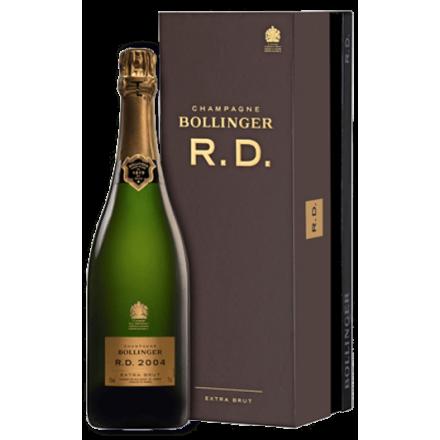 Champagne Bollinger R.D. 2004 en coffret luxe