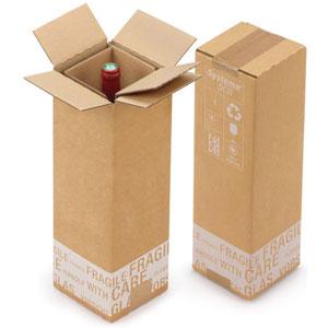 Carton protection emballage bouteille de vin
