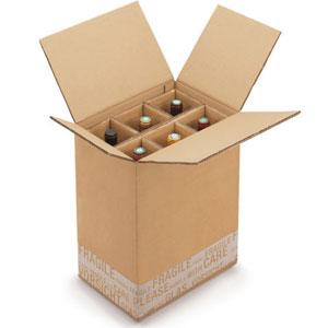 Carton protection emballage bouteille de vin 2