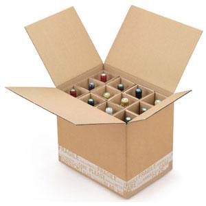 Carton protection emballage bouteille de vin 3